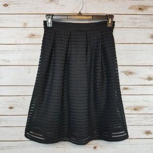 F21 | Black Skater Skirt